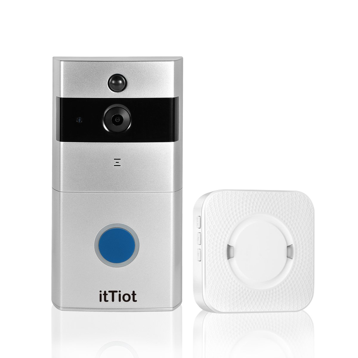 itTiot Video Doorbell, Smart Doorbell with Ding Dong/Chime and 8GB Memory Card,Two-Way Talk and Night Vision,Compatible with IOS and Android… by itTiot