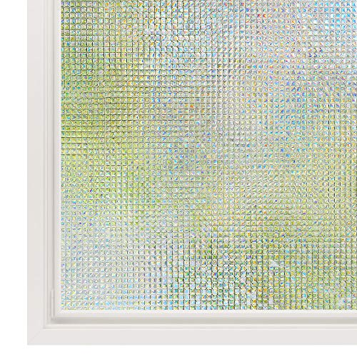 Films Privacy Film Static Decorative Film Non-Adhesive Heat Control Anti UV 35.4In. By 78.7In. (90 x 200Cm) ()