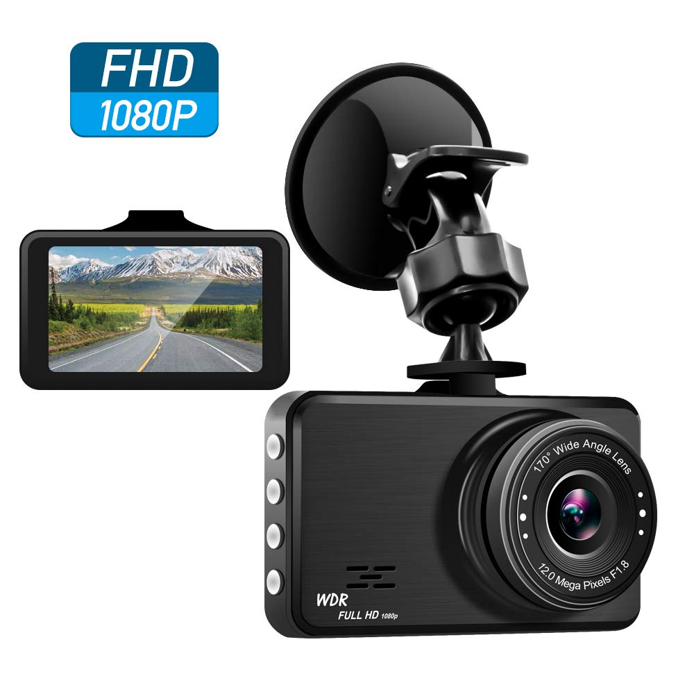 Veroyi Dash Cam Car DVR Full HD 1080P Dash Camera for Cars with Night Vision 170 Degree Wide Angle G-sensor Motion Detection Parking Monitor Driving Recorder
