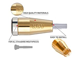 TRUMPET MOUTHPIECE BOOSTER KGUBrass. CUSTOM MADE CLASSIC TRUMPET BOOSTER KGU Gold Plated 24K Color (Color: Gold Plated 24K, Tamaño: Custom Classic)