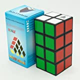 CYNDIE 2x2x4 Cuboid Magic Cube PVC Sticker Brain Teaser Puzzle Toy Competition Speed Cube for All Ages black