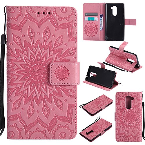 Click to buy Honor 6X Wallet Case,IVY [Sun Flower] Mate 9 Lite PU Leather Cover Wallet Phone Case For Huawei Honor 6X / Mate 9 Lite / GR5 2017 - Pink - From only $3708.67