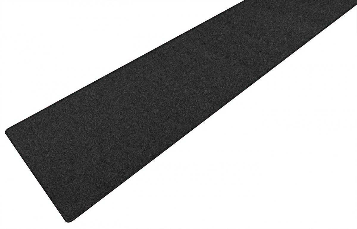 havatex Velours Teppich Trend Läufer - Farbe wählbar | Schadstoffgeprüft Pflegeleicht | Robust & Strapazierfähig | Flur Diele Eingang Wohnzimmer Büro, Farbe:Schwarz, Größe:80 x 400 cm
