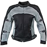 Xelement CF507 Womens Black/Grey Mesh Jacket with Advanced Level-3 Armor - Large