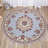 Rug Color carpet 3d carpet Round carpet Bedroom Rug European carpet Washed carpet Carpet wear-resistant-D diameter120cm