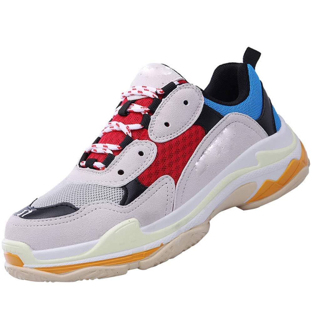 QVRGE Männer Und Frauen Freizeitschuhe Paar Schuhe Schuhe Vater Schuhe Schuhe Dicke Turnschuhe (Farbe   Blau, Größe   42EU) 0a2e61