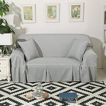 Protector de sofá de color puro todo incluido, 1 2 3 4 ...