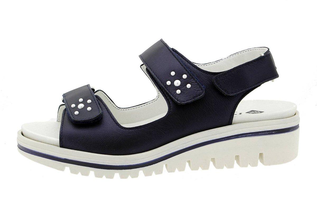 PieSanto Sandale mit Herausnehmbarem Fuszlig;bett 180781 Komfort Damenlederschuh  38 EU|Orion Marino