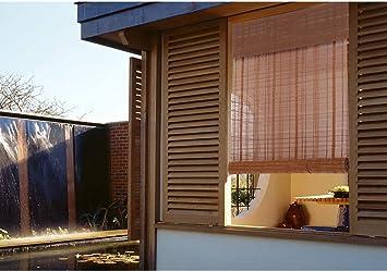 LY88 Cortinas enrollables de Cortina de bambú Cenefa, persiana de privacidad con Filtro Solar para balcón/Puertas/casa de té, fácil de Instalar: Amazon.es: Deportes y aire libre