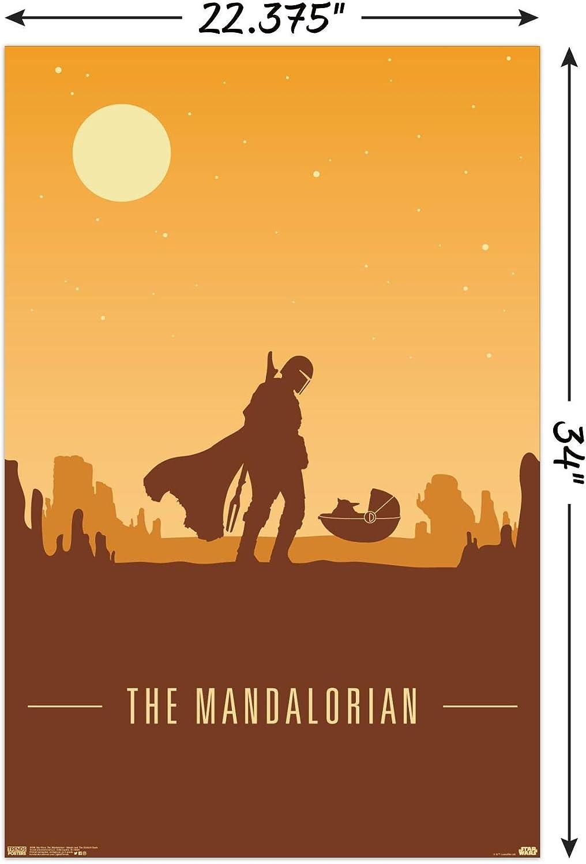 "030 Mandalorian Season 1 2 Fight Space War TV Show 52/""x24/"" Poster"
