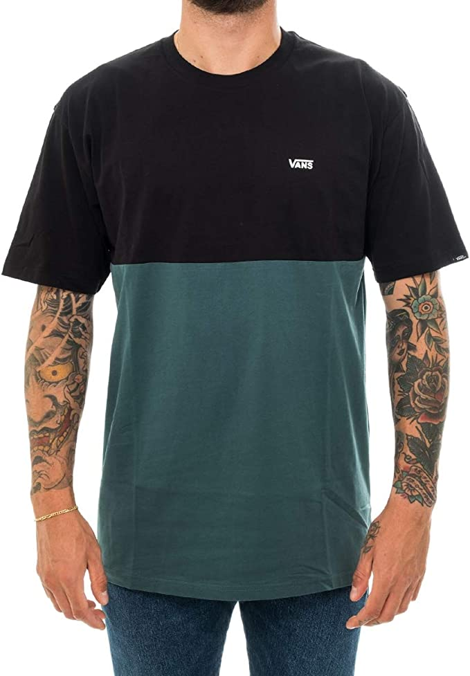 Vans Hombre Camiseta Colorblock, XS: Amazon.es: Ropa y accesorios