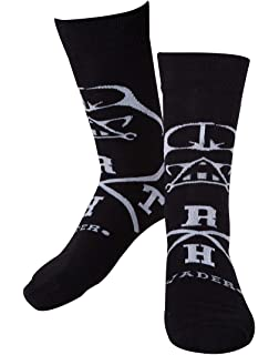 Star Wars Darth Vader Cross Calcetines negro-blanco