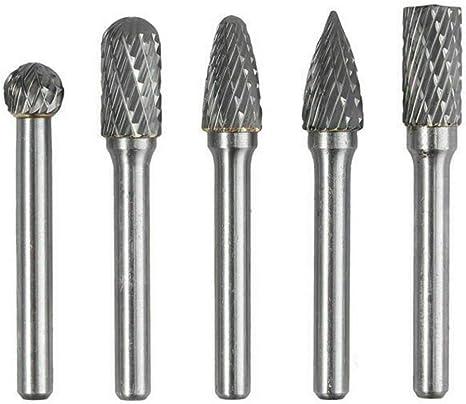 10pcs 3mm*6mm Tungsten Carbide Rotary Point Burr Die Grinder Shank Set XY
