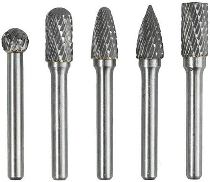 10mm x 23mm DealMux Conical Nose Tungsten Carbide Grinding Carving Rotary File