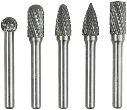 10-pc CARBIDE BURR SET die grinder burrs double cut metal grinding bits