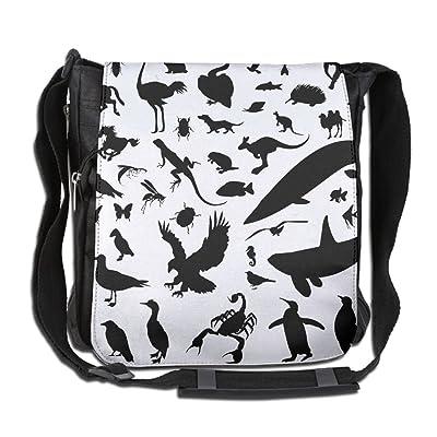Animal Silhouette Vector Fashion Print Diagonal Single Shoulder Bag