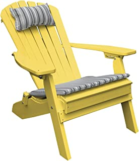 product image for Poly Folding and Reclining Fanback Adirondack Chair - Yellow