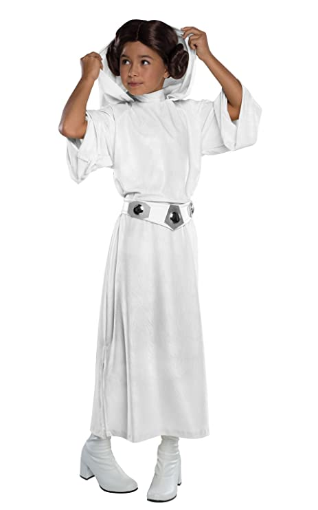 Rubies Costume Star Wars Classic Princess Leia Deluxe Child Costume, Large