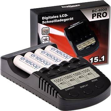 BC-4000 Cargador de batería Pro Kraftmax con pantalla LCD y ...