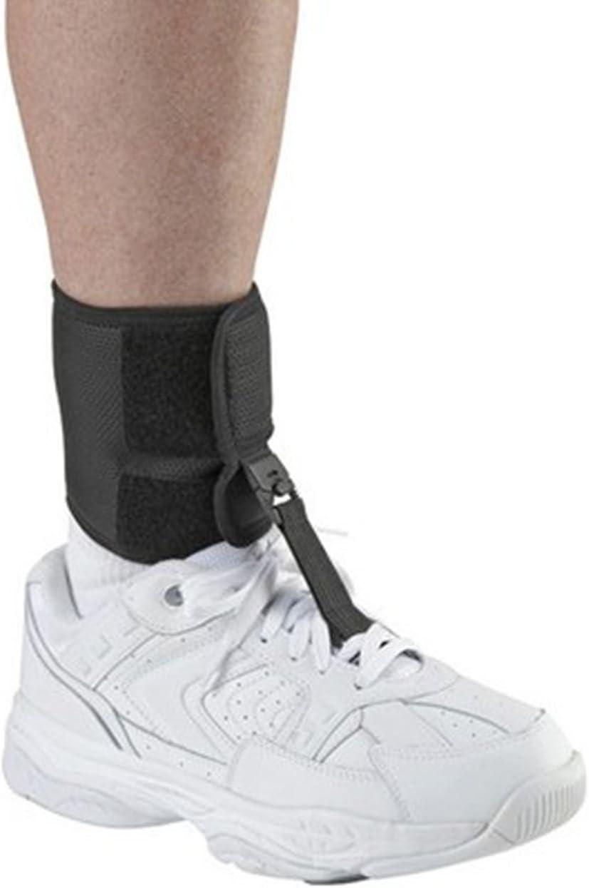 Ossur Foot-up Drop Foot Brace - Ankle Support Comfort Adjustable Wrap (Black, X-Large)