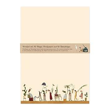 Briefpapier Set Edel Mit Umschlägen 10 Seiten Din A4 Mit Blumen Und