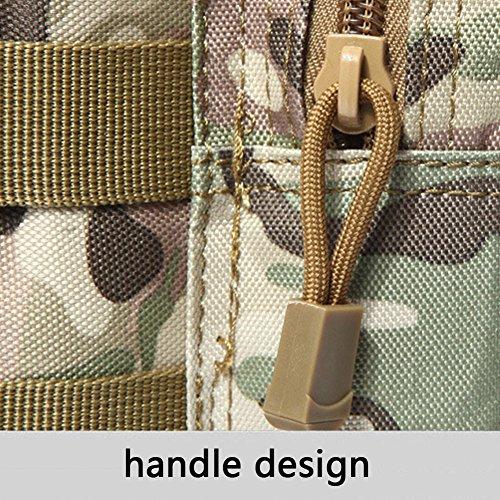 Bluelans MOLLE Outdoor Tactical Schultertasche Wasser Flasche Tasche Wasserkocher Taille Rückseite Pack 2#