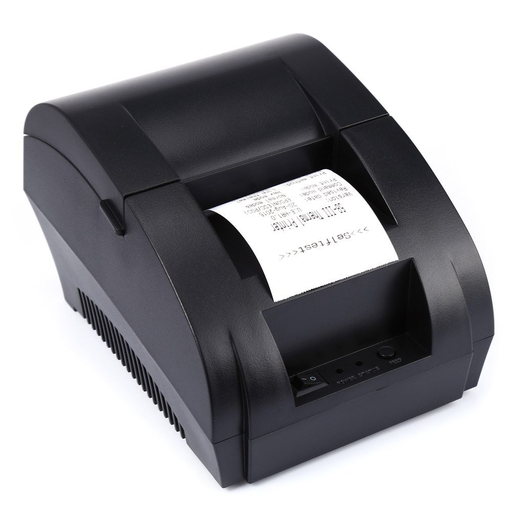 Mini 58mm Low Noise POS Receipt Thermal Printer with USB Port