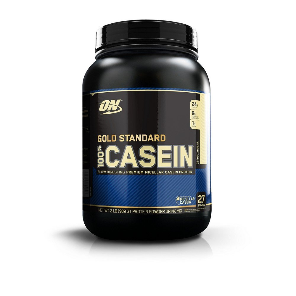 OPTIMUM NUTRITION Gold Standard 100% Micellar Casein Protein Powder, Slow Digesting, Helps Keep You Full, Overnight Muscle Recovery, Creamy Vanilla, 2 Pound