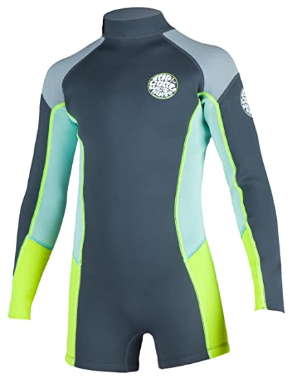 16780ae9b85409 Rip Curl Junior Girl Dawn Patrol Long Sleeve Spring Suit, Charcoal, Size 16