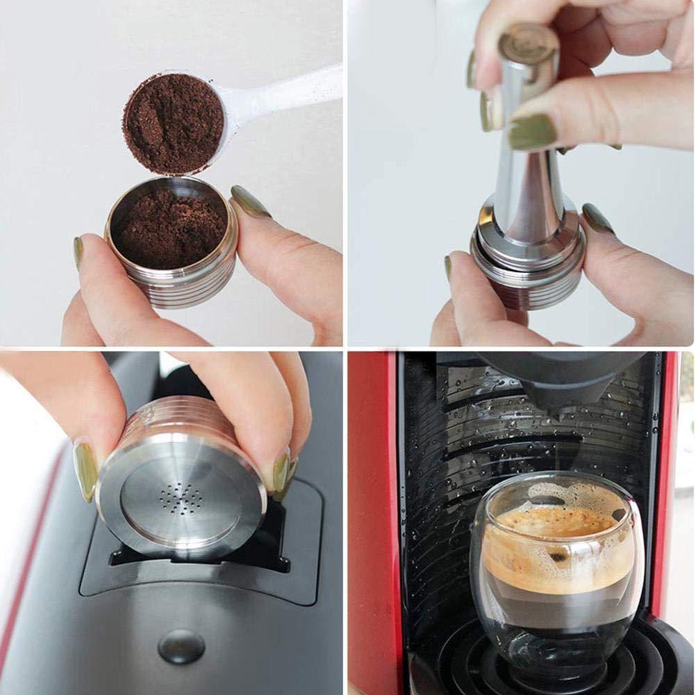 FOONEE Cápsulas de café rellenables de Acero Inoxidable, Soporte ...