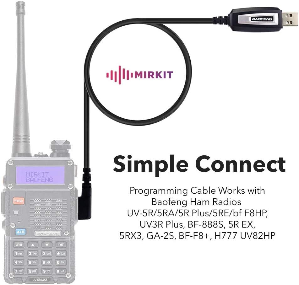 5R EX UV3R Plus 5RE BF-F8+ BF-888S UV-82 bf F8HP 5RA Baofeng Programming Cable for Two Way ham Portable radios: UV-5R 5RX3 GA-2S 5R Plus H777 UV82HP