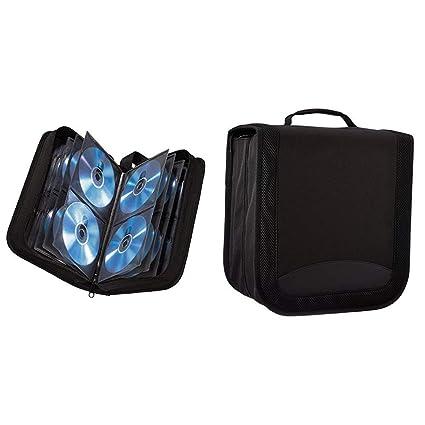 Hama CD Tasche für 120 Discs/CD/DVD/Blu-ray (Mappe zur Aufbewahrung,  platzsparend für Büro, Wohnzimmer und Zuhause, Transport-Hüllen) Schwarz &  ...