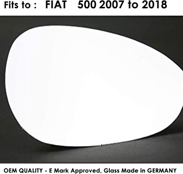 Fiat 500 2007-2017 right driver off side convex mirror glass 71RS