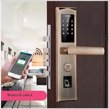 Jackeylove Cerraduras de Bluetooth biométricos Cerradura de ...