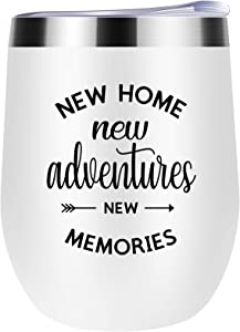 Housewarming Gifts New Home Gift Wine Tumbler,House Warming Presents For Men And Women-Unique First Time House Owner Gift Family Gifts Ideas For Him,Her,Couples