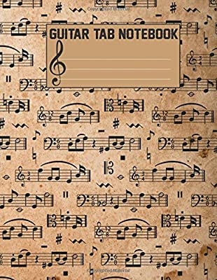 Guitar Tab Notebook Blank Sheet Music For Guitar Large Print 108