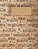 Guitar Tab Notebook: Blank Sheet Music For Guitar