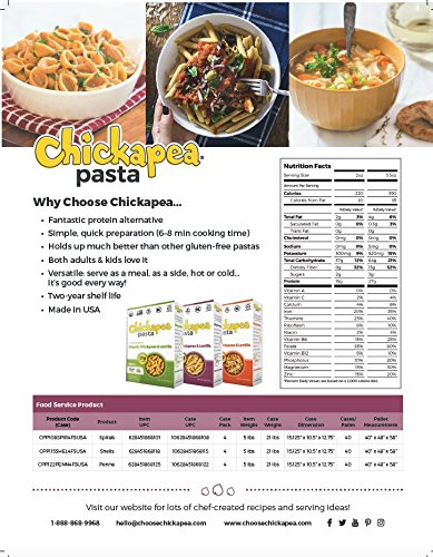 Chickapea Organic Chickpea and Red Lentil Pasta Spirals Wholesale US 20lb Pkg by Chickapea (Image #4)