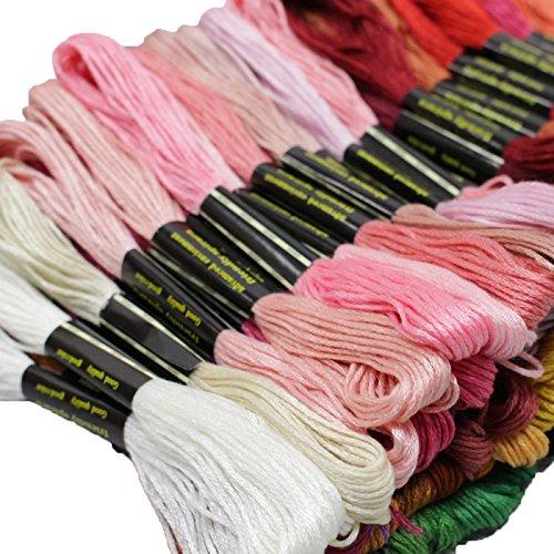 100本98色 刺しゅう糸 まとめ買い セット (おまけ付き) B073MCTSJM