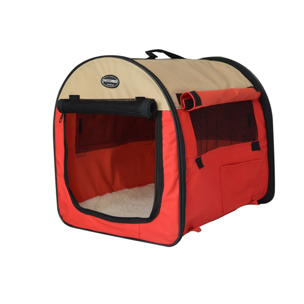 Red 463631cm HOIHO Breathable pets portable foldable tent pet nest produce cat nest kennel playpen carrying case collapsible travel bowl indoor outdoor use ( Size   Red 463631cm )
