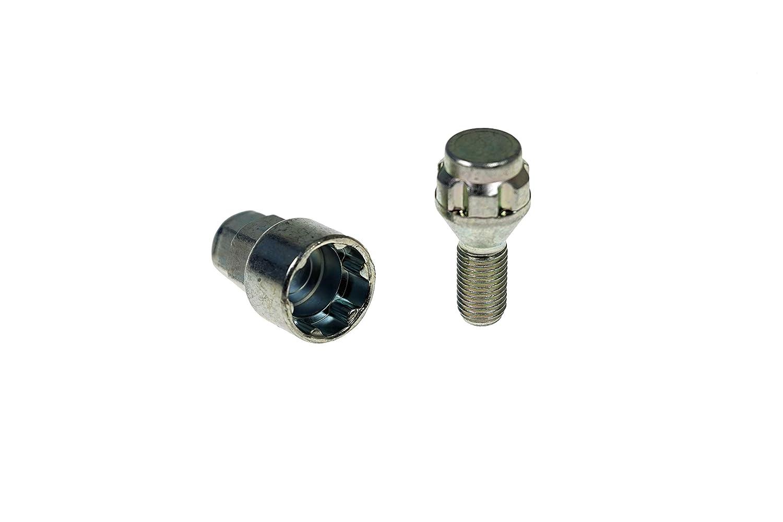 Schaftl/änge 24,0mm BC1204 Raddiebstahlsicherungsbolzen M12x1,5 Schl/üsselweite 17mm //19mm Kegelsitz
