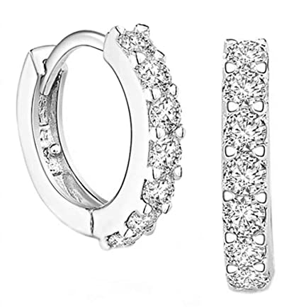 f72350478 Amazon.com: cubic zirconia,cubic zirconia huggy style earrings ...