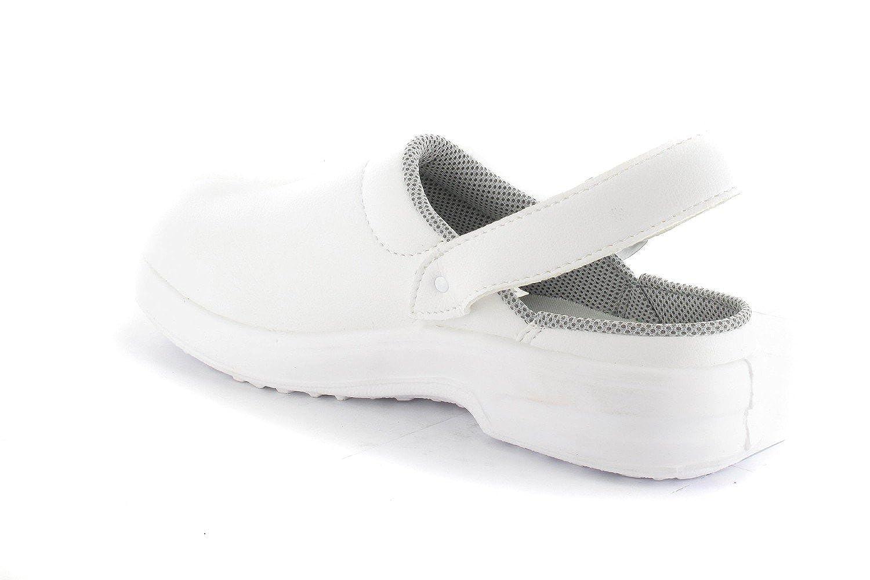 SANTOS - - SANTOS Antibakterielle Clogs - Weiß Schuhe in Übergrößen, Größe 41 2cad0d