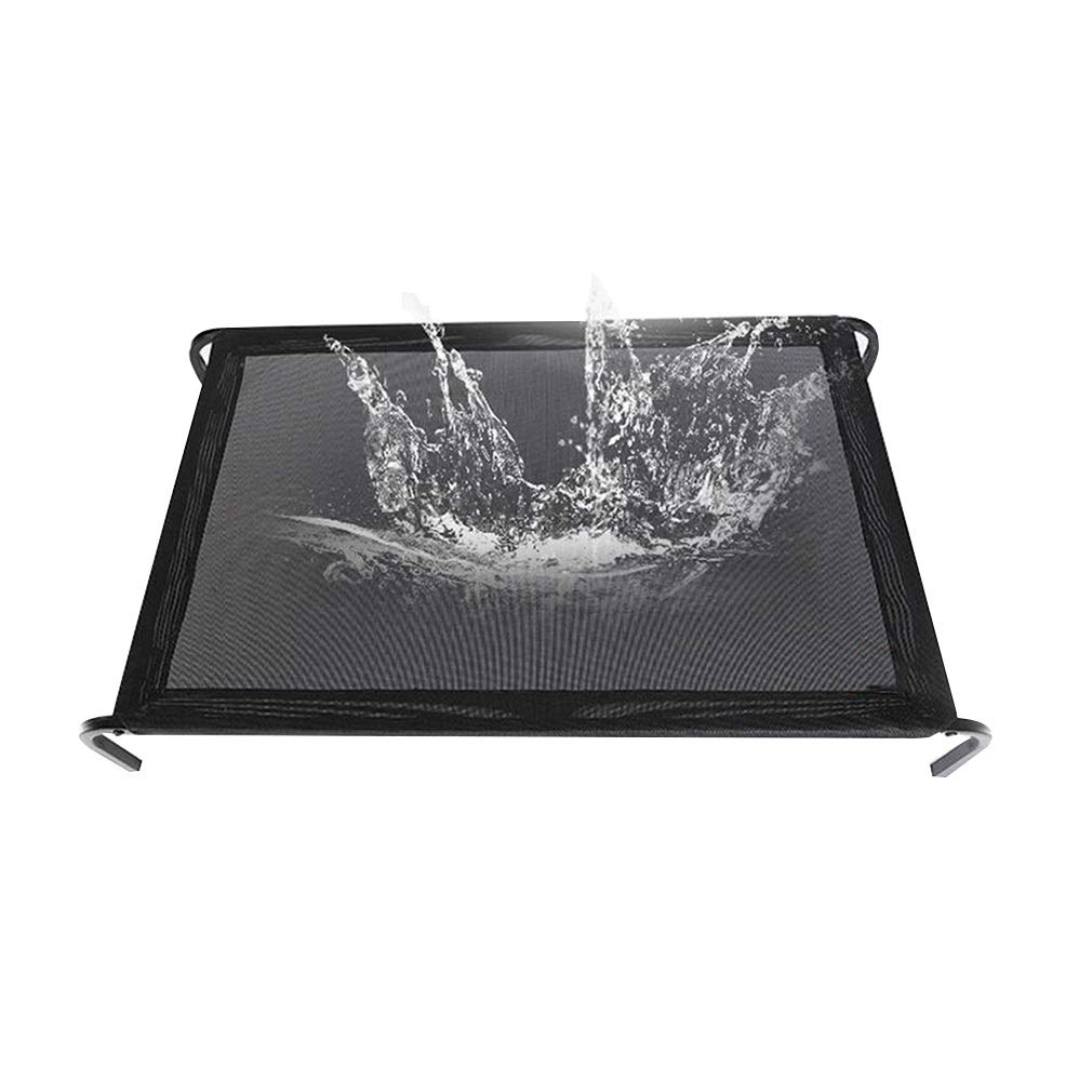 Black S(55x54x15cm) Black S(55x54x15cm) ZWYGXL Original Elevated Cooling Pet Bed Steel-Framed Portable Cat Dog Cot Summer Removable Washable Breathable Cooling Comfort (color   Black, Size   S(55x54x15cm))