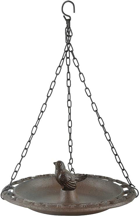 Esschert Design Vogeltränke Vogelbad Vogelbecken Futterschale Gusseisen Vogel
