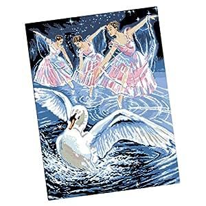 sharplace Finest hecho a mano 5d Animal diamantes pintura bricolaje kits de punto de cruz manualidades regalo de cumpleaños Swan