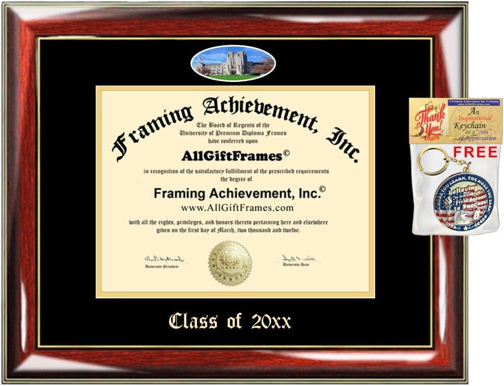 Amazon Com Custom Diploma Frame Vt Embossed College Virginia Tech University Best Graduation Degree Frame Double Mat Campus Fisheye Picture Frame Graduate Gift