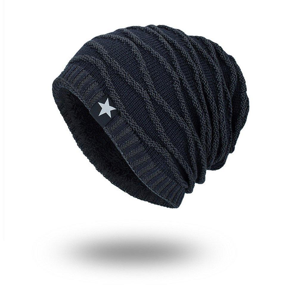 757ac7dfab5ff5 iYBUIA Winter Unisex Knit Cap Hedging Head Hat Beanie Cap Warm Outdoor  Fashion Hat(Black, One Size) at Amazon Women's Clothing store: