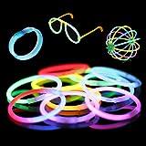 """100 8"""" Premium Glow Stick Bracelets (10 Color Mixed Assortment)"""