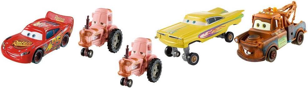 Mattel Disney Pixar Cars Radiator Springs Classic Tractor estampida Die Cast vehículos Gift Pack [Rayo Mcqueen Mater Amarillo Ramone hidráulico y 2 Tractores]: Amazon.es: Juguetes y juegos